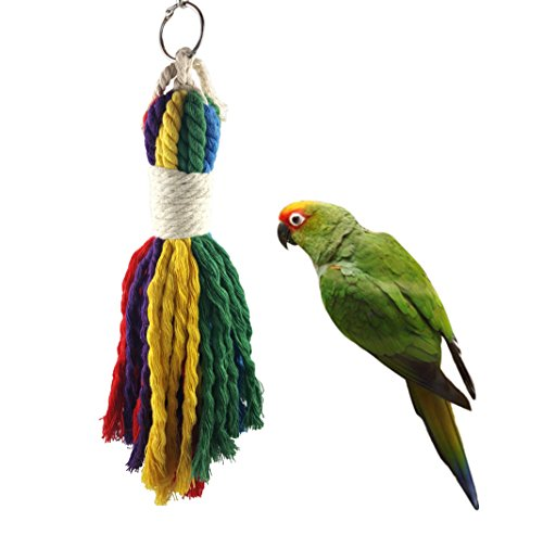 Pets Bird Multi-color Rope Toy - Parrots Cage Chewing Toy Fits Small to Medium-Sized Birds 11.8