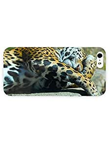 3d Full Wrap Case for iPhone ipod touch4 Animal Cuddling Jaguar