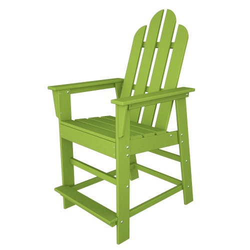 POLYWOOD ECD24LI Long Island Counter Chair, Lime