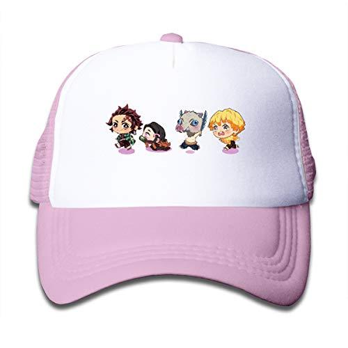 きめつのやいば キャップ キッズ 野球帽 調整可能 少女少年 カジュアル 帽子 かわいい オールシーズン適用 子供用 Black