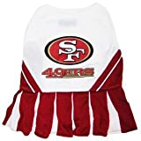 Pets First NFL San Francisco 49ers Dog Cheerleader Dress, Small, My Pet Supplies
