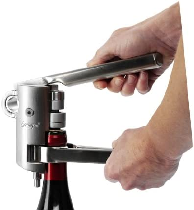 Le Creuset Accesorios para vino Sacacorchos de palanca y cortacápsulas, LM-G10, Cromado satinado (Satin Chrome)