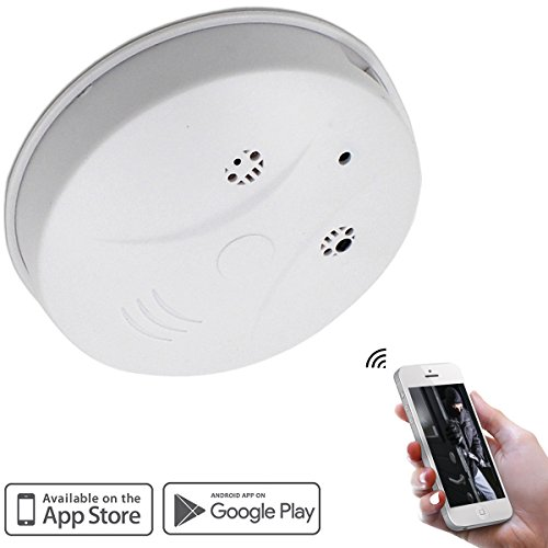 Camakt WiFi Smoke Detector Hidden Camera HD 1080P Mini Nanny Spy Cam Motion Detection Activated Video Recording Security Cameras for IOS Android PC Remote View