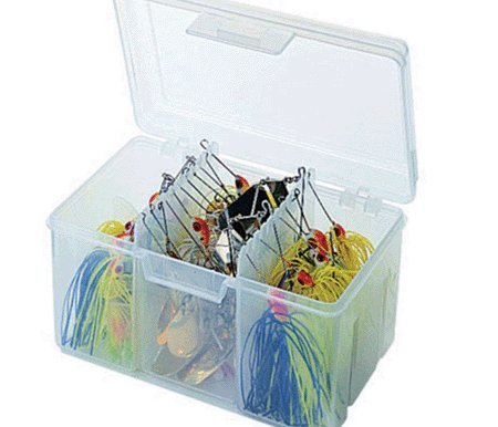Flambeau Tackle Spinnerbait Utility Box (Clear, 6.5x4.625x4.125-Inch) Tackle Spinnerbait Bait