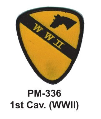 3'' Embroidered Millitary Patch 1st. Cav.(WWII)