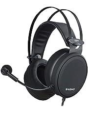 Fones de ouvido para jogos NUBWO PS4 N7 estéreo Xbox One fone de ouvido com fio para jogos de PC com microfone com cancelamento de ruído, fones de ouvido para jogos circum-auriculares para PC/MAC/PS4/Xbox One, Preto, 1
