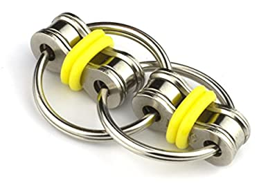 Flippy Chain Fidget Toy Stress Reducer by Tom's Fidgets - Perfect For ADD, ADHD, Anxiety, and Autism - Yellow