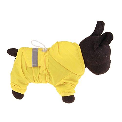 Zhhmeiruian Abrigo impermeable Poncho para perros Chubasqueros Impermeables para Mascotas Perros con Capucha xs-6xl...