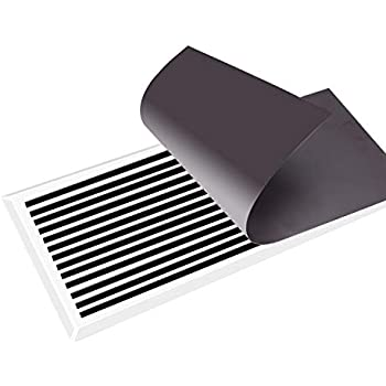 Strong Magnetic Floor Vent Cover Wall Vent Cover Black 15'' X 8'' for Floor, Home HVAC, AC, Wall, RV,3 Pack