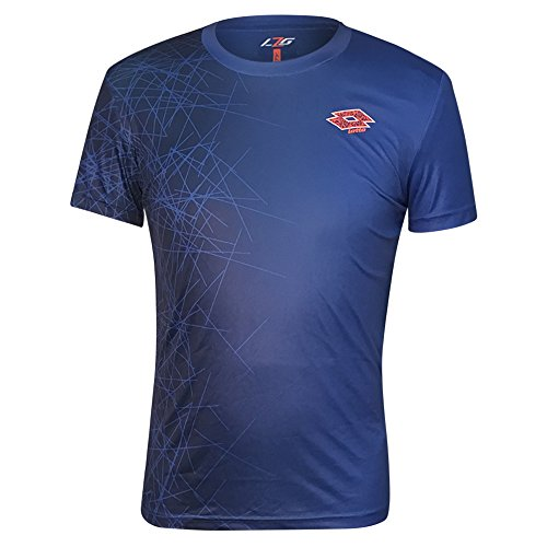 Lotto Athletic Mens Performance Knit Short Sleeve Tee Shirt  X Large  Blue