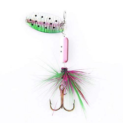 Forellenspinner Spinner Forelle Barsch Kunstköder 4er Set 6,7cm 4g Zite Fishing