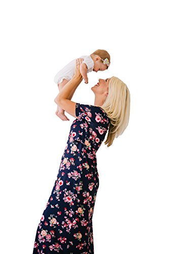 Undercover Mama Short Sleeve Maxi Nursing Dress - for Maternity and Breastfeeding