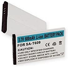 Samsung Jitterbug Plus Cell Phone Battery (Li-Ion 3.7V 600mAh) - Replacement For Samsung T609/T619 Cellphone Battery
