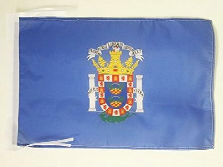 AZ FLAG Bandera de Melilla 45x30cm - BANDERINA ESPAÑOLA - ESPAÑA 30 x 45 cm cordeles: Amazon.es: Hogar