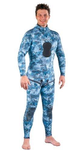 Mares Pure Instinct Mens Camo Blue Rashguard Shirt and Pants (Medium / Large)