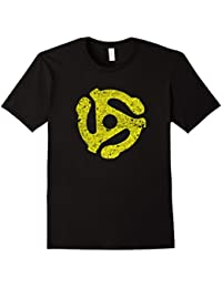 DJ 45 RPM Adapter Vintage Style Turntable Record T-Shirt