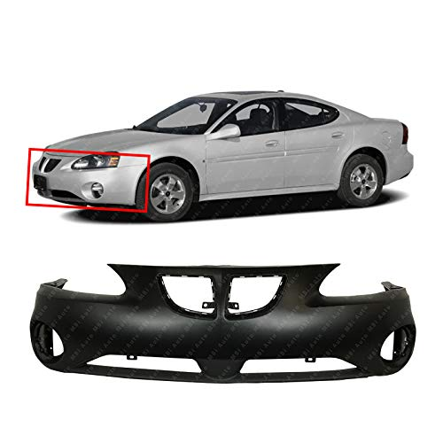 MBI AUTO - Primered, Front Bumper Cover w/Lower Valance for 2004-2008 Pontiac Grand Prix 04-08, - Grand Prix Pontiac