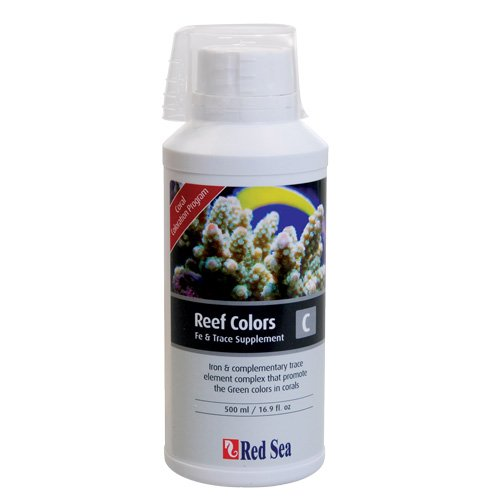 Red Sea Fish Pharm ARE22043 Reef Colors Iodine/Halogens Supplement-A for Aquarium, 500ml