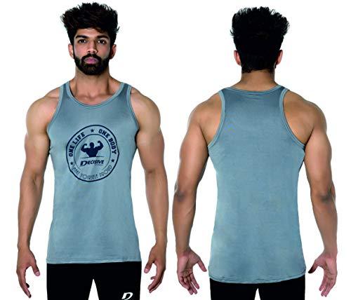 Decisive Fitness 3 Tone Bodybuilding Gym Stringer Vest Y Back Stringer//Racerback Vest