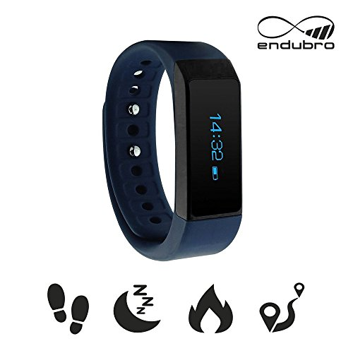 endubro i5 plus Fitness Armband - fitness tracker - smart bracelet - Smartwatch für Android Smartphone und iPhone, Schrittzähler, Push-Message und Anrufer - ID Benachrichtigung (Blau)
