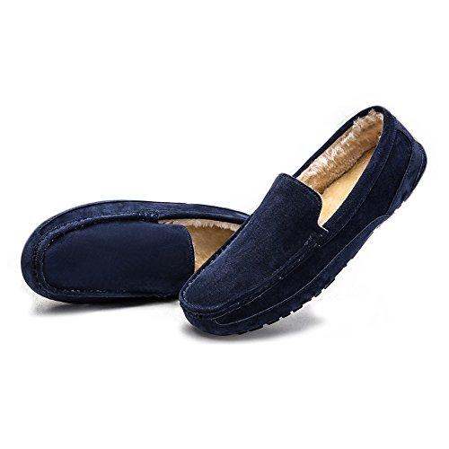 de de de Mocasines Zapatos Mocasines Moda Conducción los Barco de Slip Mocasines Trabajo Mano a navy Hombres Sutura Negocios Gamuza Penny de Genuino on Cuero Planos Nhatycir Warm Zapatos Hecho Zapatos 5pRqB7B