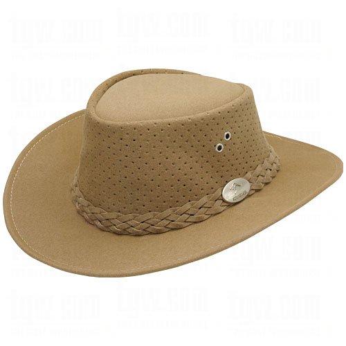 66576516188 Aussie Chiller Outback Bushie Chiller Golf Hat - Carmel - Large