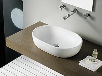 bathco toulouse lavandino per bagno da appoggiare al ripiano dellarredo bagno
