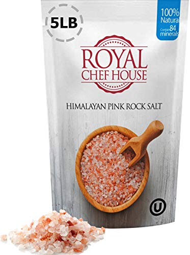 Himalayan Pink Salt 5 lbs Coarse Grain Bulk Bag - Hymalain Pure Gourmet Crystals - Himilian 100% Natural - Contains 84 Minerals -Suitable for Body Bath Scrubs Table Salt Grinder (Himalayan Bath Salt Crystals)