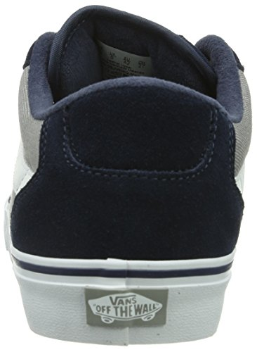 grey Bleu textile Vans white M Faulkner Navy Homme Baskets Mode Ww4q8XTqZa