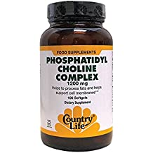 Country Life - Phosphatidyl Choline Complex, 1200 mg - 100 Softgels