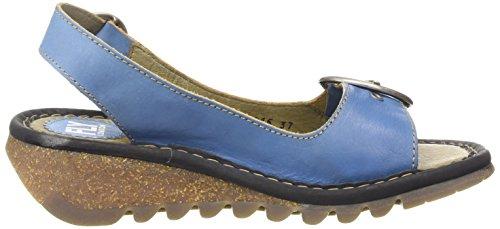 FLY London Tram, Zapatos con Tira de Tobillo para Mujer Turquesa (Azure (Black)