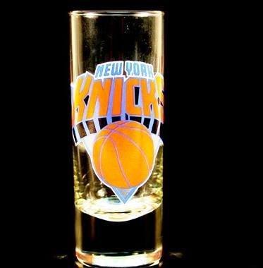 New York Knicks NBA Licensed Glass Cordial Logo Hype Shot Glass (2 Oz.) Team Logo