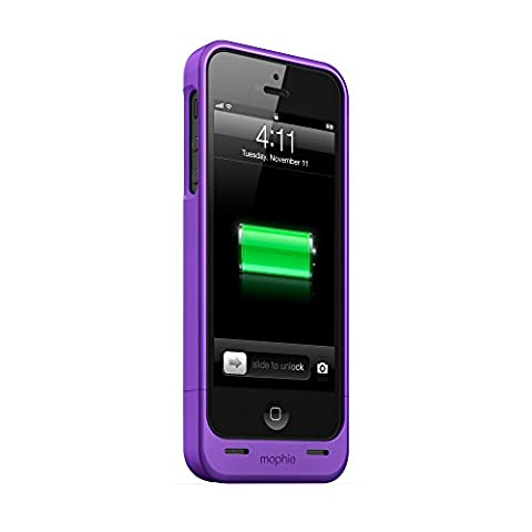 mophie juice pack Helium for iPhone 5/5s/5se (1,500mAh) - Purple (A Charging Iphone 5 Case)