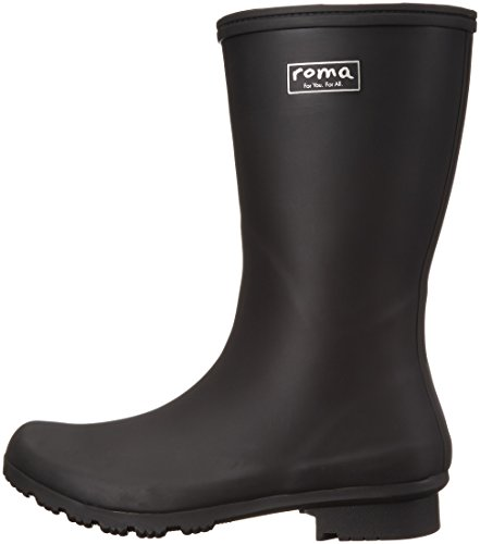 Roma Boots Women's EMMA Mid Rain Boots Matte Black