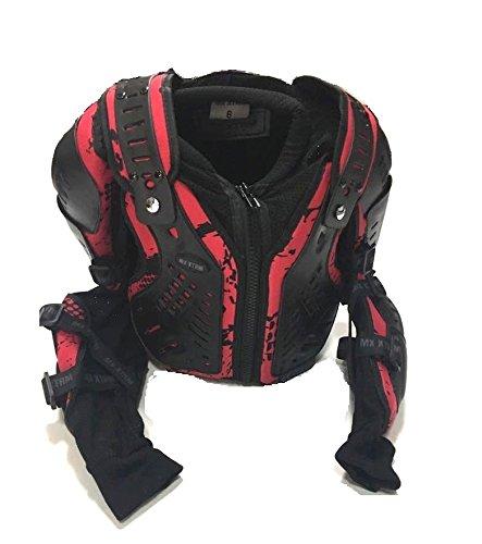 Blanc//Rouge 12 ann/ées//XL Motos Enfants Armure XTRM Enfant Corps Armor Vest Nouveau Motocross Quad MX Courses Hors-Piste Professionnel de Protection ATV Sport CE approuver Armure