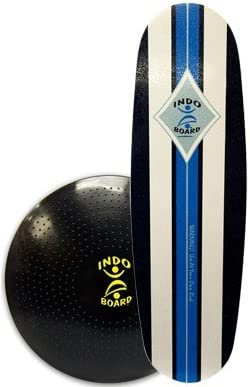 INDO BOARD Mini Pro FLO Balance Board with 39 X 15 Deck and 24 Diameter Cushion – 4 Color Choices
