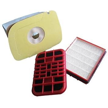 Staubbeutel-Profi - Juego de recambios para aspiradora Lux 1 D820 (10 bolsas, 1 filtro HEPA, 1 filtro de carbón activado)
