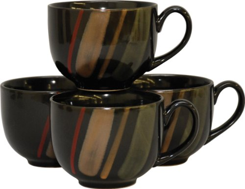 Sango Avanti Black S/4 Jumbo Mugs