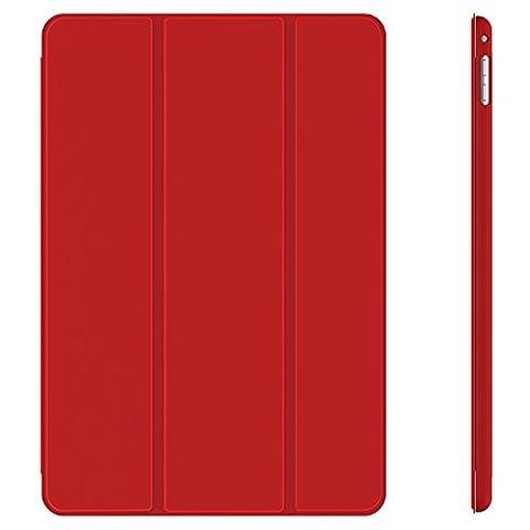 iPad Mini 4 Case, JETech Apple iPad Mini 4 Folio Case Cover with Auto Sleep/Wake for Apple iPad Mini 4 2015 (Red) - (Ipad 4 Folio)