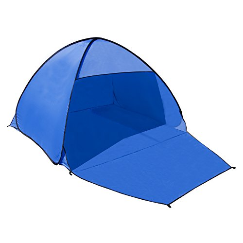 ALEKO PTB21 Outdoor Portable Instant Pop Up Beach Tent Travel Outdoor Sun Shelter, Blue