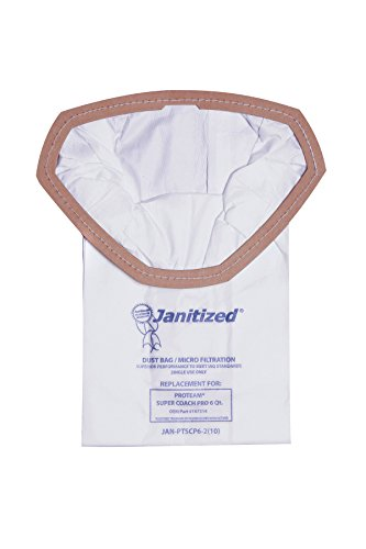 - Janitized JAN-PTSCP6-2(10) Premium Replacement Commercial Vacuum Bag for ProTeam Super Coach Pro 6, GoFree Pro & ProVac FS 6 Qt. Vacuums(10-10 Packs)