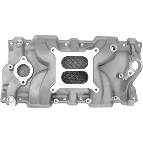 Small Block Chevy Hi-Rise Intake Manifold, Plain Finish