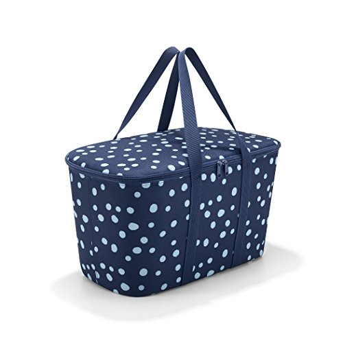 reisenthel Coolerbag, Collapsible 20-Liter Insulated Tote with Zipper Closure, Spots Navy