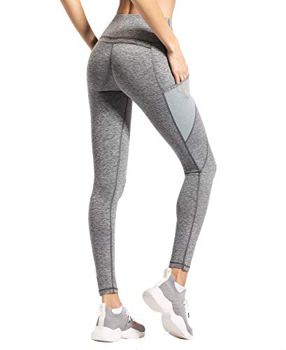 QUEENIEKE-Women-Yoga-Leggings-Power-Flex-Mesh-Pocket-Mid-Waist-Gym-Running-Tights