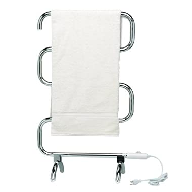 Homeleader® TW-05S Towel Warmer 100W, portable free standing or wall mount, white