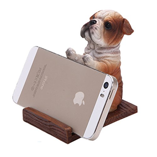 KaiPoint Creative Desktop Decoration Cell Phone Holder Stand For All Models Phone Bracket dog (Bulldog) by KaiPoint