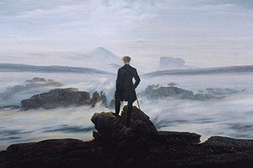 Buyartforless Wanderer Above The Sea of Fog 1818 by Caspar David Friedrich 36x24 Giclee Edition Museum Art Print Poster POD (Wanderer Above The Sea Of Fog Print)