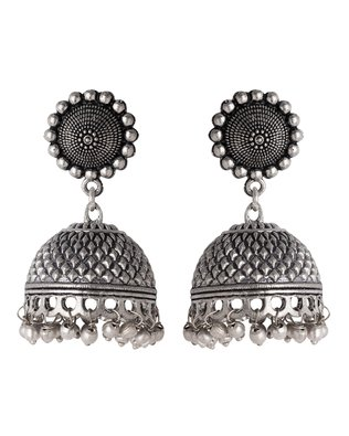 978787f49 Buy Voylla Jhumki Earrings for Women (Silver)(8907617410869) Online at Low  Prices in India