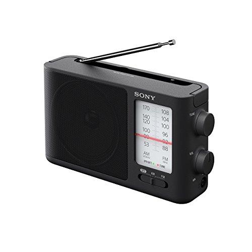 Sony ICF-506 Analog Tuning Portable FM/AM Radio, Black, 2.14 lb (Renewed)