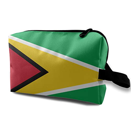 - Lazy Toiletry Bag Travel Bag Makeup Pouch, Guyana Flags Of Countries Multi-Purpose Travel Makeup Train Case Holder Portable Gift for Women Girl, Large Space Pencils Holder